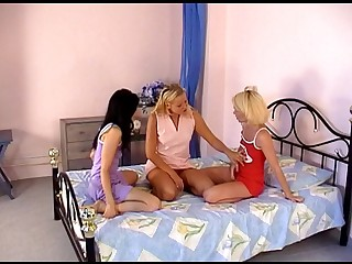 three teenage girl-on-girl carnal knowledge vid roughly buttfuck magic wands. Excellent movie for teenager lezzie websites. Torrid teenagers and good nubile lovemaking