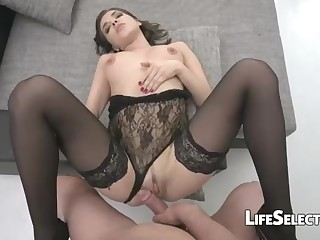 Randy cougar in ebony tights, Henessy S loves to deep-throat her ultra-kinky husband's rock rigid chisel