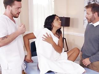 Sexy wife headman with masseur
