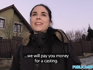 Public Deputy Spanish Student fucks for party cash