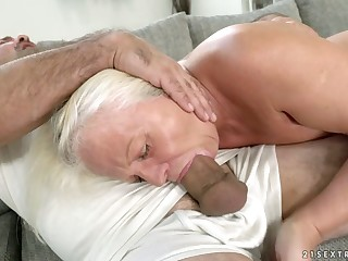 Ancient wise woman Anett is fucked hard by hot blooded old bean