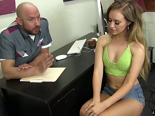 Lyra Louvel is excited nigh a sex innings with a fellow