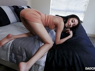 Saleable stepdad fucks pretty hot slim stepdaughter Scarlett Bloom