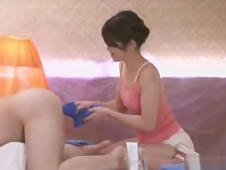Anal massage and cleaning service with Maki Hojo
