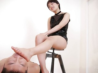 Legs Japanese asian foot fetish with submissive male slave