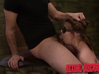 Handcuffed nympho with succulent ass Kayleigh Nichole is made for rough sex