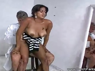 Indian old lady is getting humped in front of the camera and loving every spinster 2nd of it