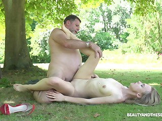Outside hardcore lady-love is all go off at a tangent horny Lily Ray wants to do