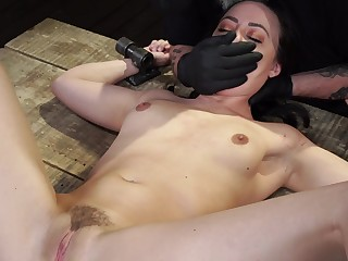 Teen gets spanked and ass fucked in brutal maledom BDSM scenes