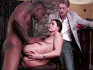 Slutty MILF India Summer cuckolds will not hear of husband with a coal-black monster dick