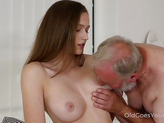 Likable fresh Czech chick Stacy Cruz is treated with cuni hard by older bastard