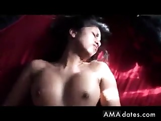 Hot Indian unshaded rides then gets it on her back!