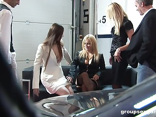 Nasty group sex with glamour models Alicia Rhores and Claudia Rossi