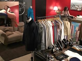 Hazardous public dealings in Japanese clothing shop Tsubasa Hachino