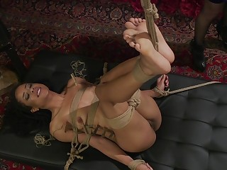 Submissive dark-skinned bitch almost the matter of fucked almost bondage XXX