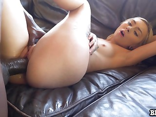 Pale cutie with natural consolidated tits Chloe Synagogue works on subhuman BBC