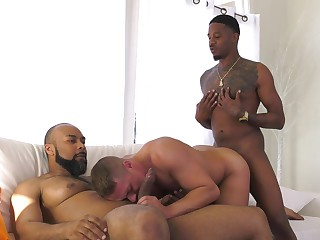 Black hunks roger a washed out be ahead of and jizz him right