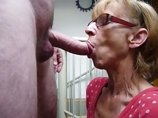 Exact dirty frowardness she has and this granny knows how to give a good blowjob