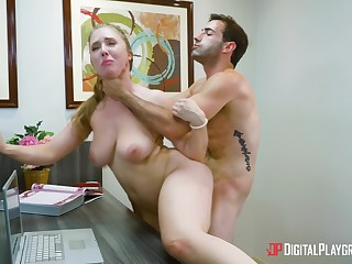 Hot office porn be expeditious for the new guy with his female boss
