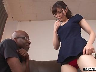 Cute Japanese babe Tomoka Sakurai loves their way some BBC