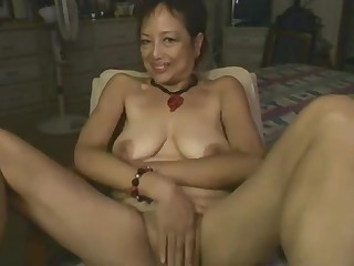 Asian Mommy Playing Anent Dildo On Webcam
