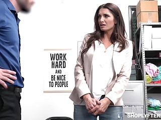 Sexy long haired MILF with perfect loops Silvia Saige is brutally fucked by cop