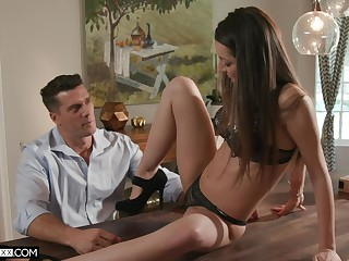 Stepdad is irresistible involving his stepdaughter and that girl solitarily loves involving fuck