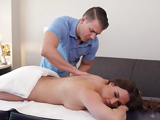 Mommy likes it in doggy affiliated to added to the masseur knows that