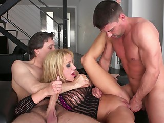 Ass-eating Amy Brooke gives all be required of herself to four lovers