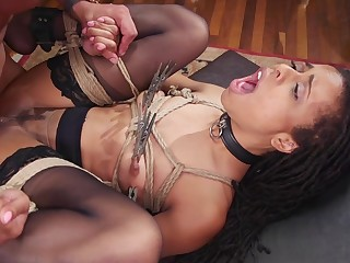 Deep interracial anal and vaginal for the slaved girls