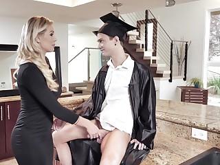 Horny alumnus fucks soaking pussy of horny busty step overprotect Kenzie Taylor