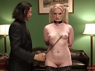 A gentleman enjoys tormenting his female slave Dresden. HD video