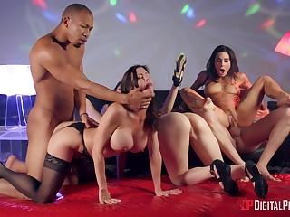 Abandoned pornstar orgy with Alexis Fawx, Izzy Lush, Joanna Angel and Judy Jo