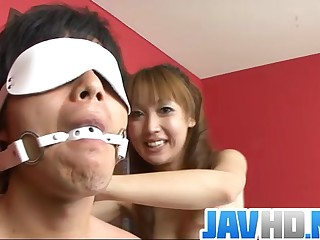 Powered Asian belle engulfs a big dong in serious porn show - More at JavHD.net