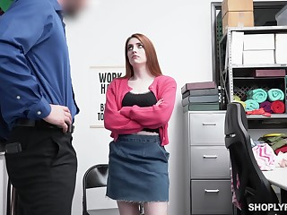 Addendum pale chestnut haired nympho Aria Carson gives a spot on target blowjob
