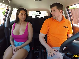 Busty wife goes potent mode on the propulsive instructor's genteel dong