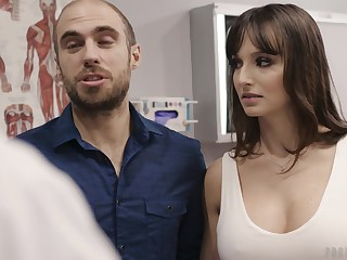 Big breasted brunette Lexi Luna feels expropriate as she rides strong cock