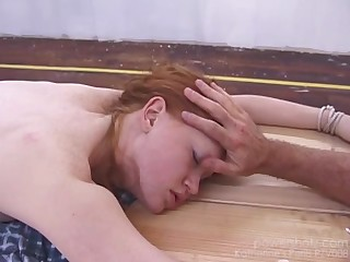 Gorgeous red head Katherine is twice chloroformed in this bondage coupled with stripping adventure.