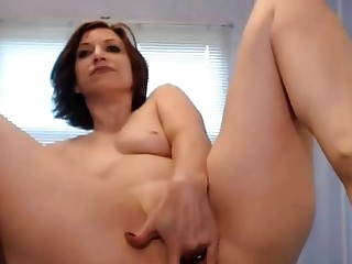 12 Inch Dildo done in her Ass + Spew