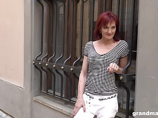 Absolute granny escort Claudia picks just about one young man on eradicate affect street