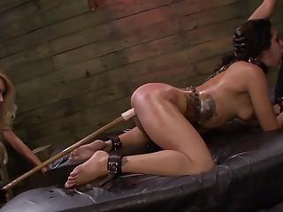 Lezdom BDSM session for sexy girls Isa Mendez, Mila Brilliancy and Ava Kelly