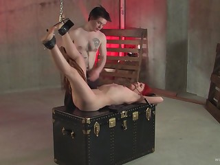 Handsome redhead chick tied and fucked by a kinky stranger