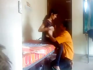 Hot Desi chick pulls on every side jeans with regard to ride stiff dick of her BF