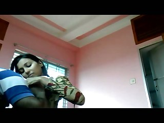 Real dark haired Indian whorish GF bows with the addition of sucks strong delicious cock