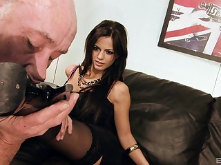 Amazing group sex bandeau with cum warm Britney and Black Angelica