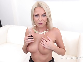 Carol Blonde around Seductive around Stockings at PuffyNetwork