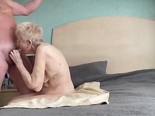Gorgeous thankful older grannie